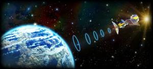 宇宙放送局の電波は同じ