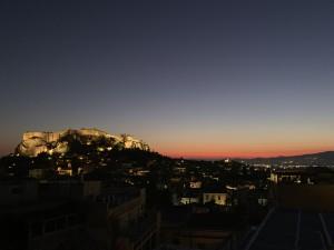 オマケ・アテネのアクロポリスの夕暮れ